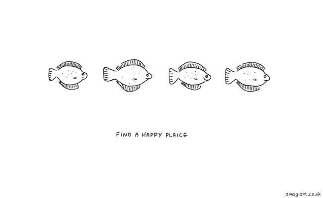 find a happy plaice