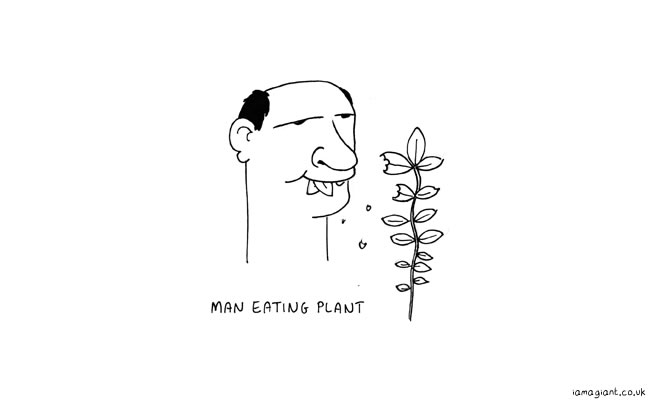 man eating plant