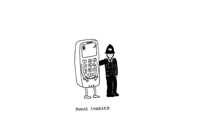 phone charged