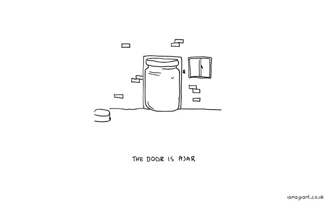the door is ajar