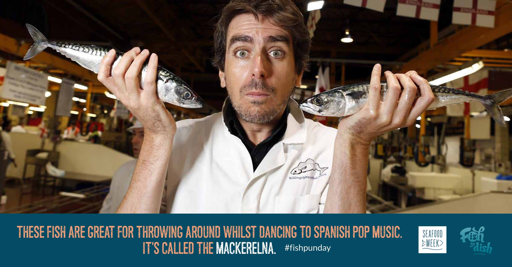 These fish are great for throwing around whilst dancing to Spanish pop music. It's called The Mackerelna
