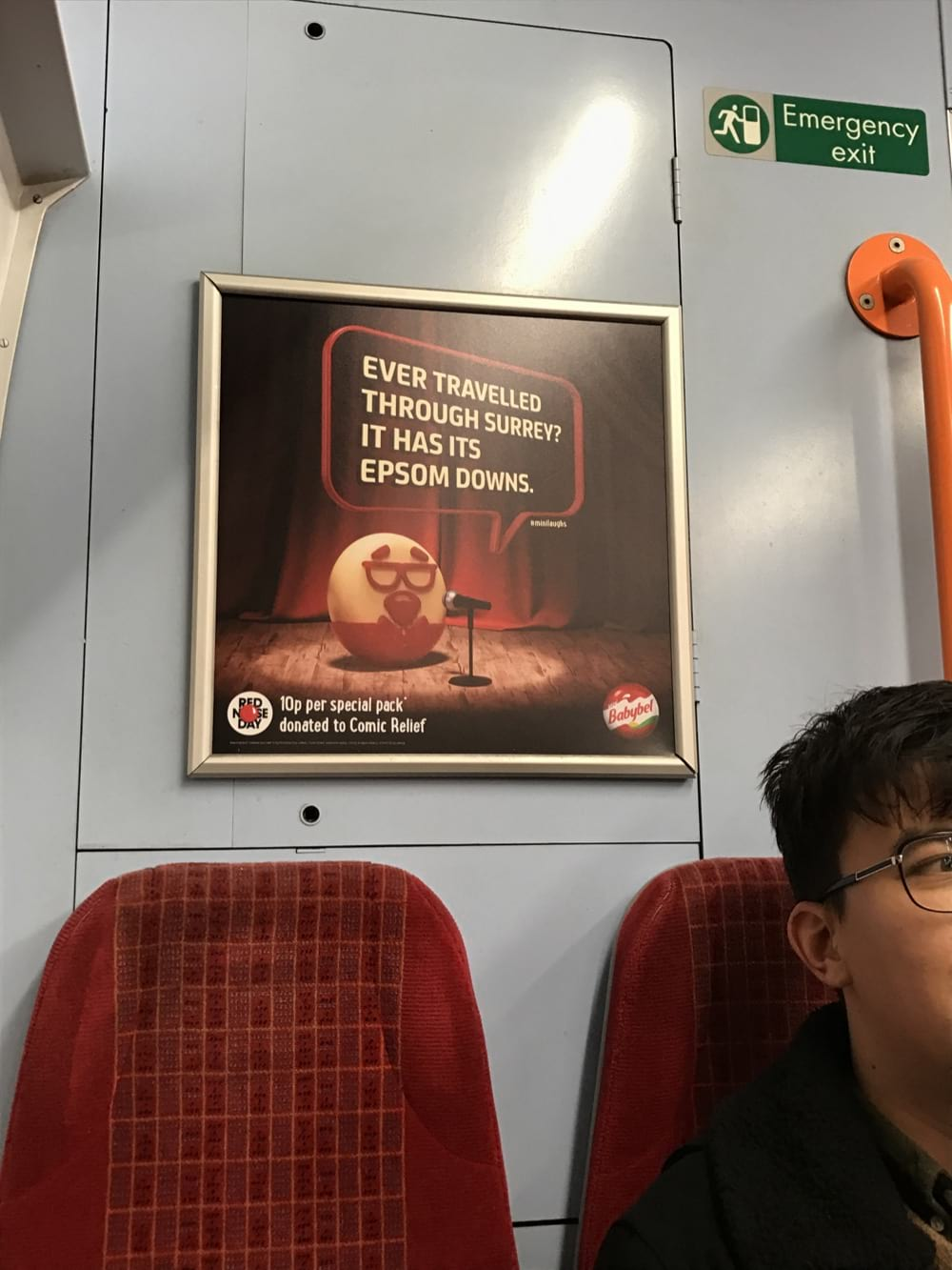 Ever travelled through Surrey? It has it's Epsom Downs - Mini BabyBel Comic Relief Train